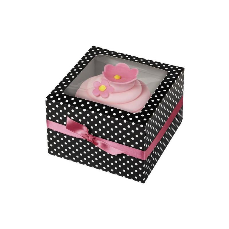 Cajas, pack 3 cajas individuales Lunares Blanco y Negro Wilton