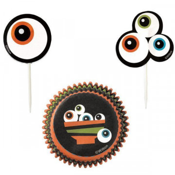 Set para cupcakes: Ojitos Gourmet Wilton