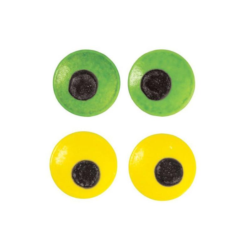 Ojitos Decorativos Grandes Verde y Amarillo Wilton