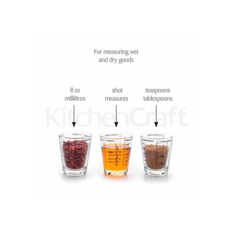 Vaso medidor mini de cristal Kitchen Craft
