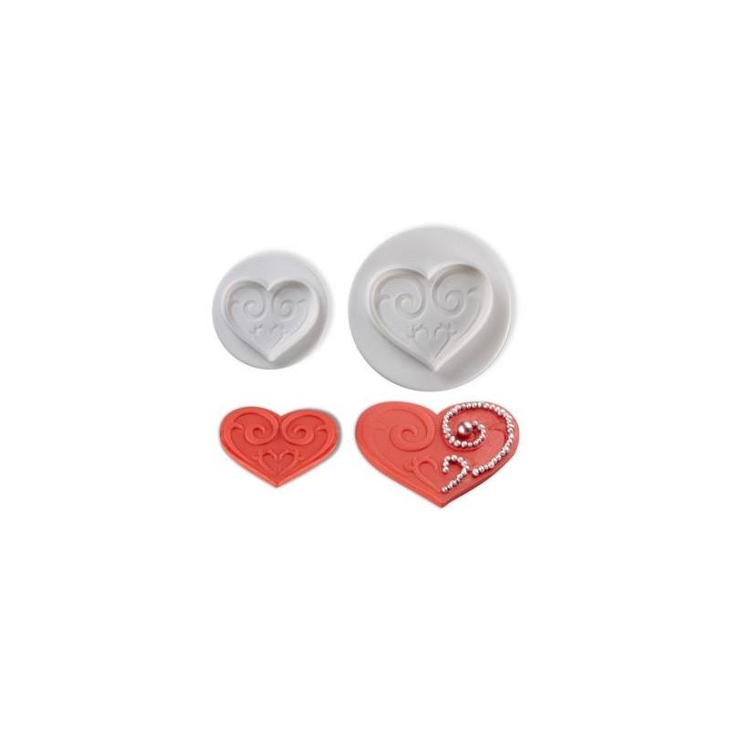 Cortante pack 2 cortantes Corazón Barroco Pavoni