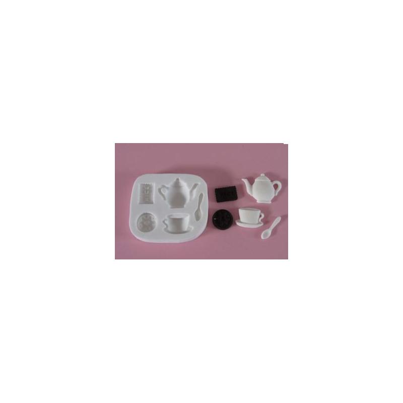 Molde silicona Té y Galletas FPC