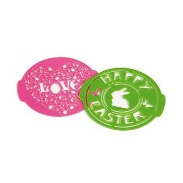 Molde Stencil Love & Easter Pavoni