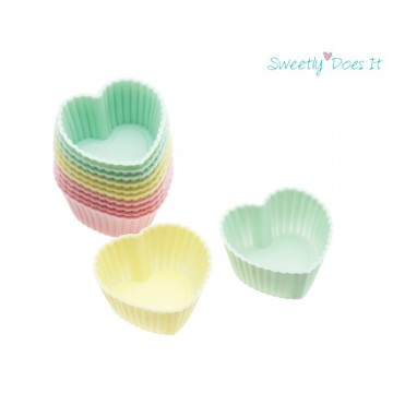 Molde Cupcakes silicona corazón pack 12 cupcake Sweetly does it