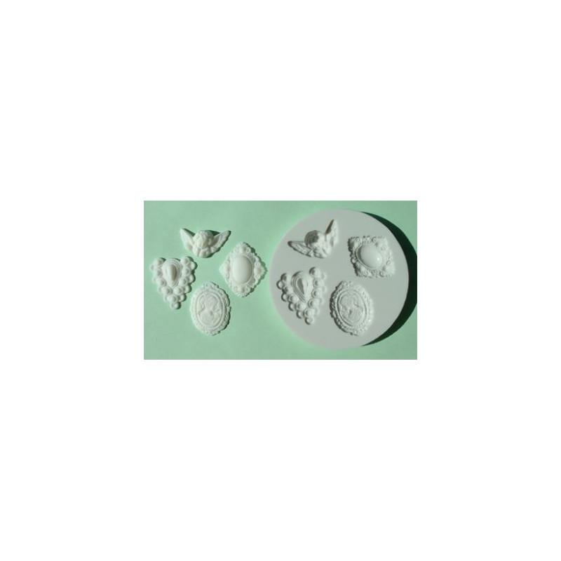 Molde silicona Classical Cameo Alphabet Mould