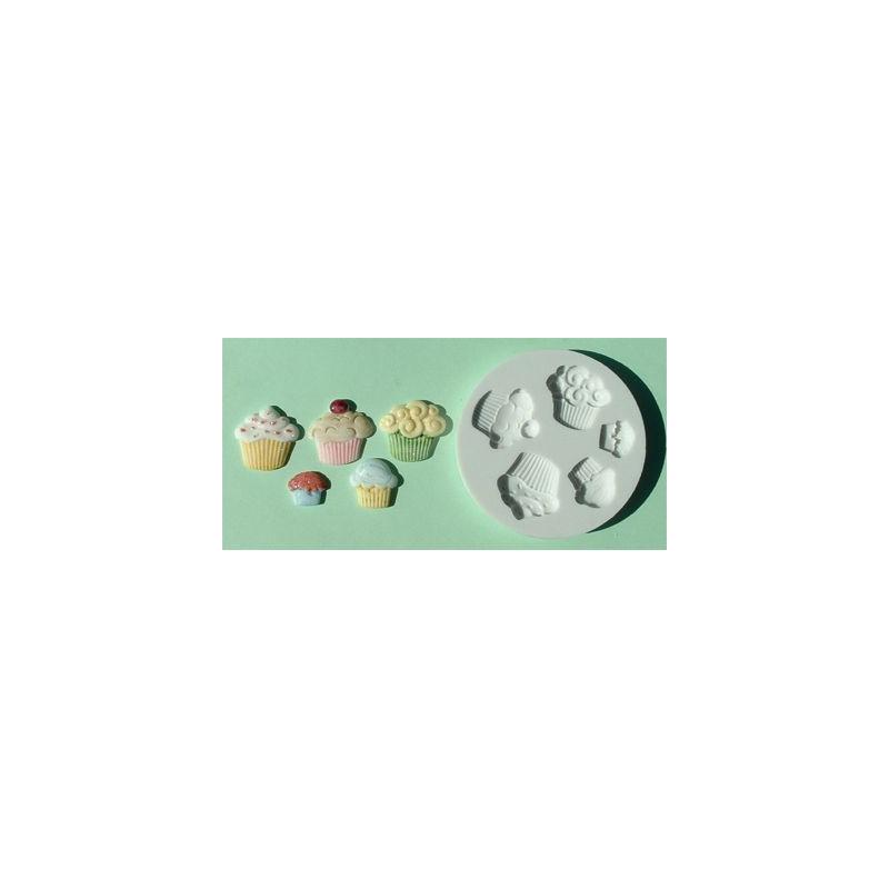 Molde silicona Cupcakes Alphabet Mould