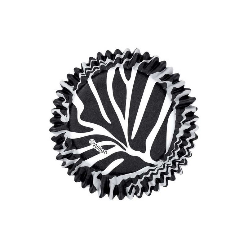 Capsulas cupcakes antigrasa Zebra Wilton