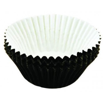 Capsulas cupcakes Metalizada Negro Tala