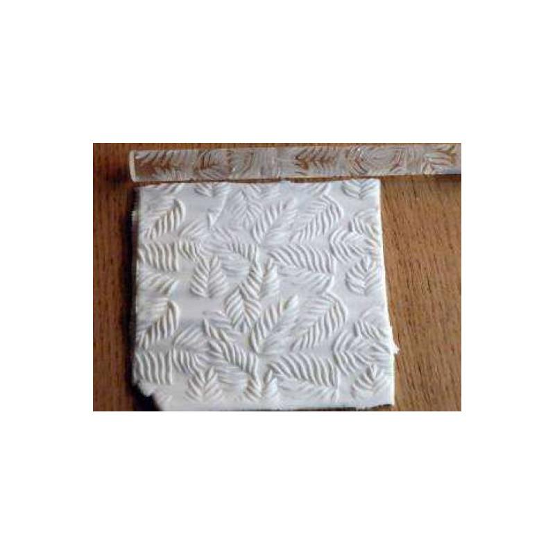 Rodillo texturizador 16 cm Hojas
