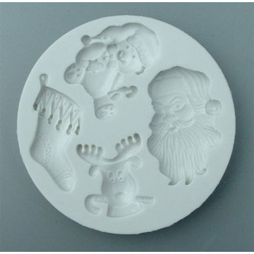 Molde silicona Christmas: Papa Noel, Reno, Osito y Calcetín Alphabet Moulds
