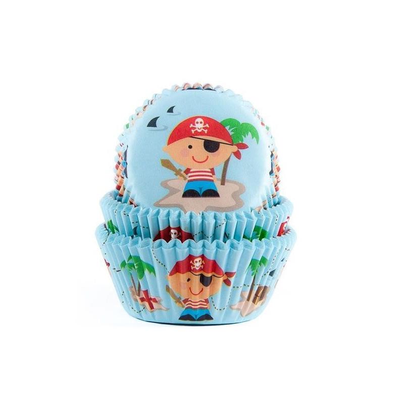 Capsulas cupcakes Piratas HoM