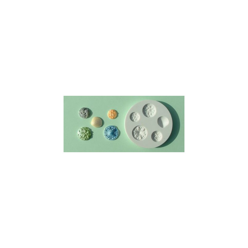 Molde silicona Broches y Concha Alphabet Mould