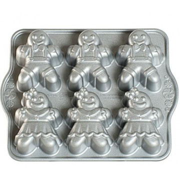 Gingerbread Kids Cakelet Pan Nordic Ware