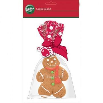 Bolsas para galletas + cintas pack 4 unidades Kit Gifting Wilton