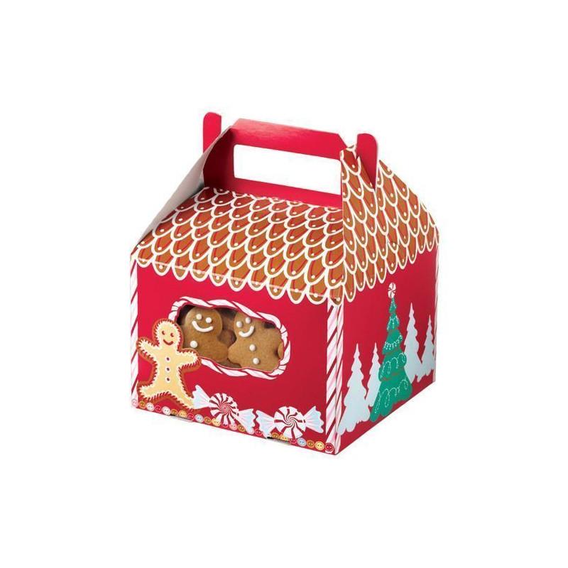 Cajas, pack 3 cajas presentación Casita Gingerbread Wilton