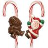 Molde bombón Santa Claus para bastón de Navidad Wilton