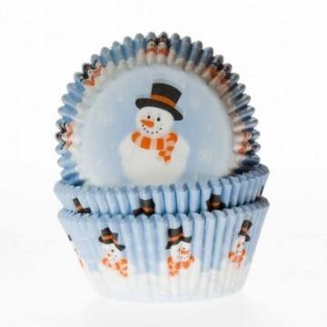 Capsulas cupcakes Muñeco de Navidad HoM