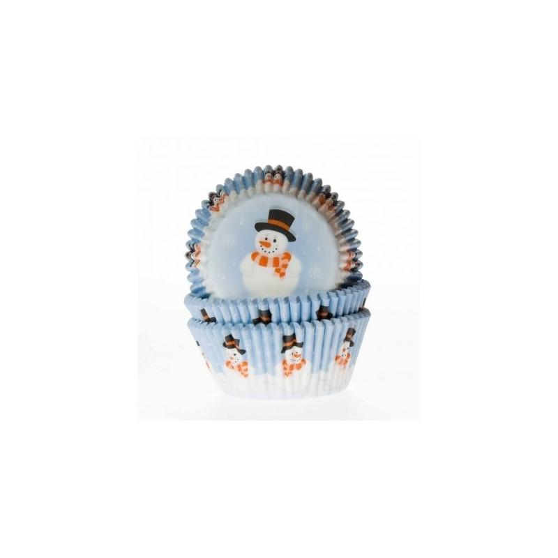 Cápsulas cupcakes Muñeco de Navidad House of Marie