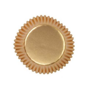 Capsulas mini cupcakes Oro Wilton