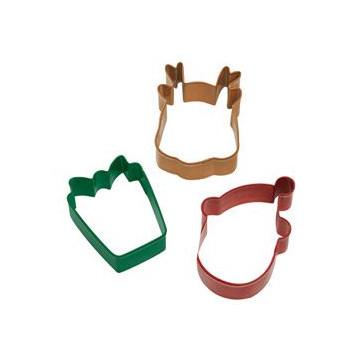 Cortante pack 3 cortantes: Regalo, Cara Reno y Cara Santa Claus Wilton