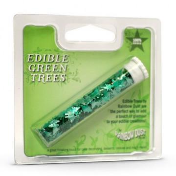 Sprinkles Edible Trees Green Rainbowdust