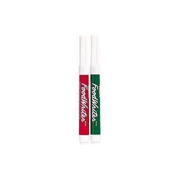 Pack 2 rotuladores verde y rojo Wilton