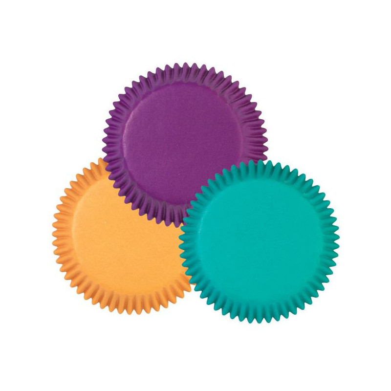 Capsulas cupcakes mini colores vivos