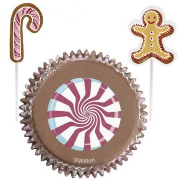 Set para cupcakes: Gingerbready Peppermint Wilton