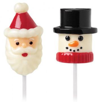 Molde piruleta para Marshmallow Santa y Muñeco de nieve Wilton