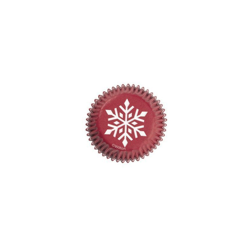 Capsulas mini cupcakes Rojo Copo de Nieve Wilton