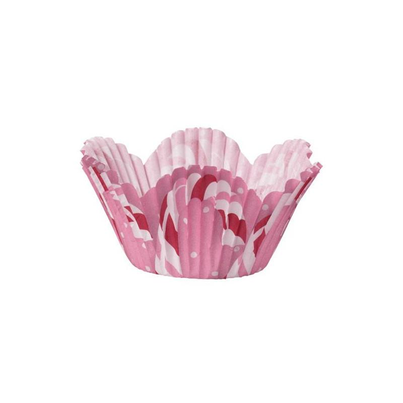Capsulas mini muffins Rosa Bastón Navidad Wilton