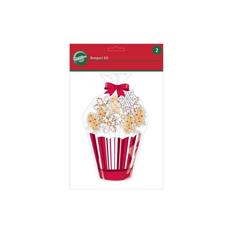Kit presentación maceta para galletas y cakepops Navidad Wilton