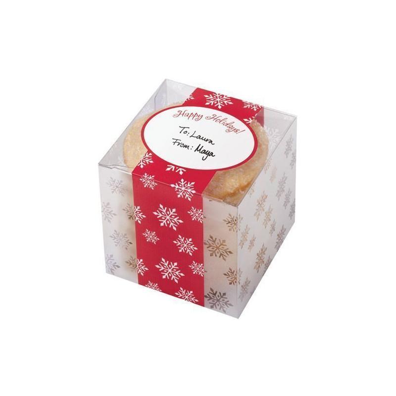 Cajas, pack 3 cajas cuadradas presentación Transparencias Copo Nieve Wilton