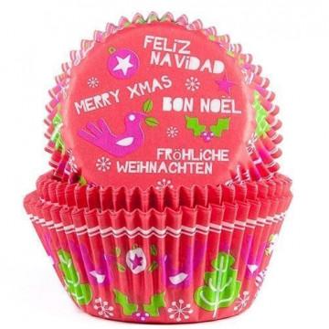 Capsulas cupcakes Mensajes de Navidad HoM