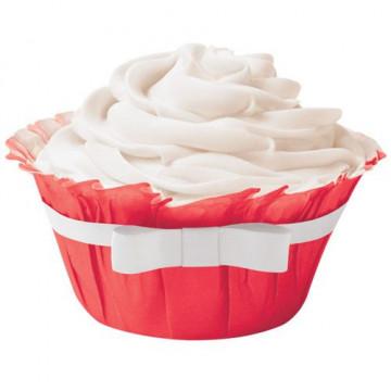 Capsulas Muffins Roja con Lazo Wilton