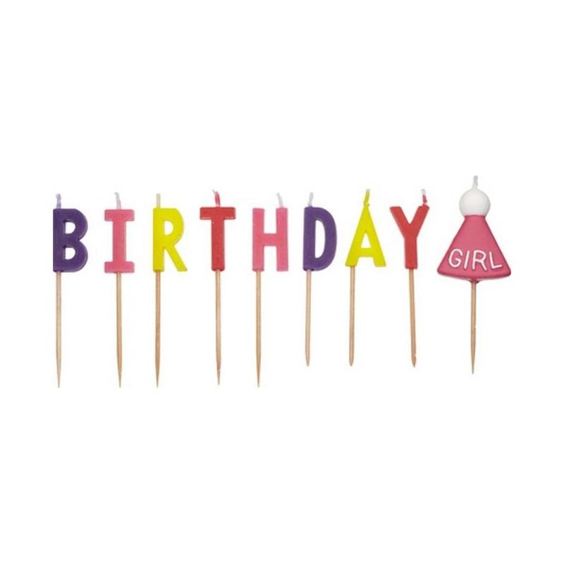 Velas cumpleaños Niña KC