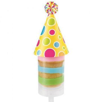Decoración Gorros de Cumpleaños para Push up 12 unidades Wilton