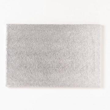 Bandeja presentación rectangular plata 35x25 cm
