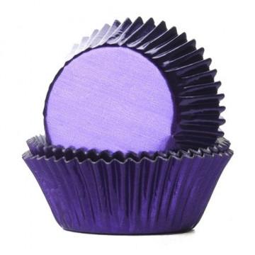 Capsulas cupcakes Violetas Metalizadas HoM