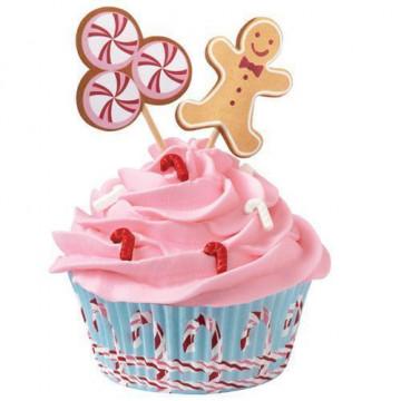 Set para cupcakes: Cottage Navidad Wilton