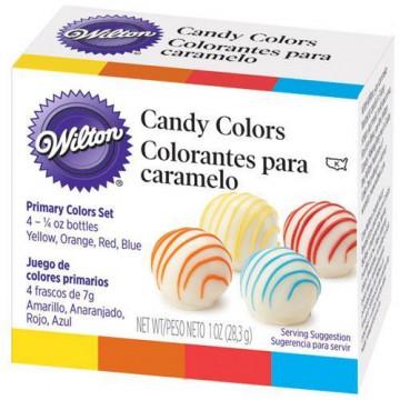 Colorante pack 4 colores básicos con base de aceite Wilton