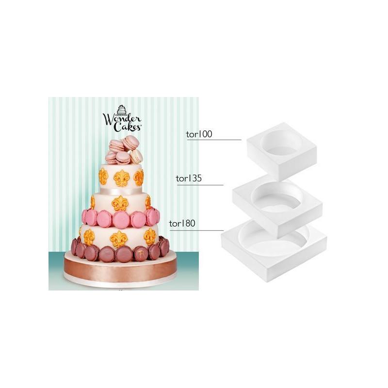 Pack 3 moldes silicona redondo My Wonder Cake SLK