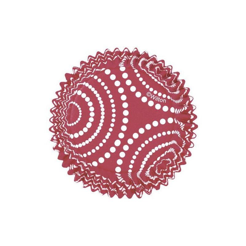 Capsulas cupcakes antigrasa Rojas con lunares blancos Wilton