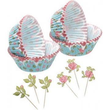 Set para cupcakes: Floral Sweet does it
