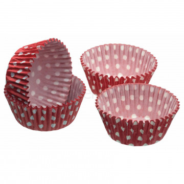 Cápsulas cupcakes lunares rojo Sweetly does it