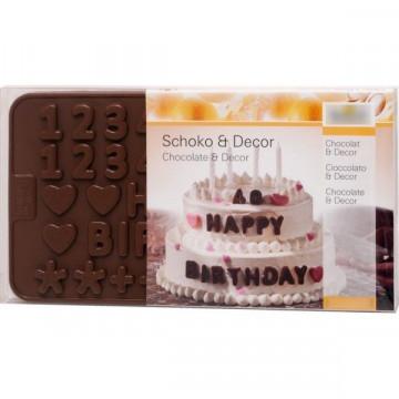 Molde Silicona para chocolate de letras y números Birkmann