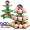 Stand de presentación cupcakes Dora la exploradora Wilton