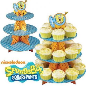 Stand de presentación cupcakes Bob esponja Wilton