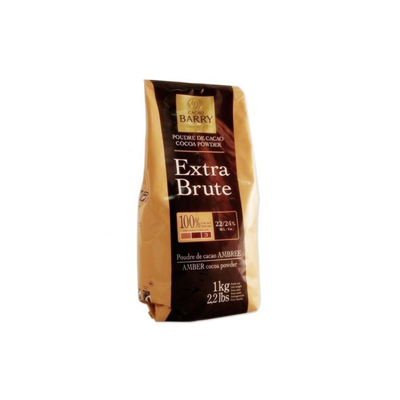 Cacao en polvo 1kg 100% CACAO Plein Arome Barry.