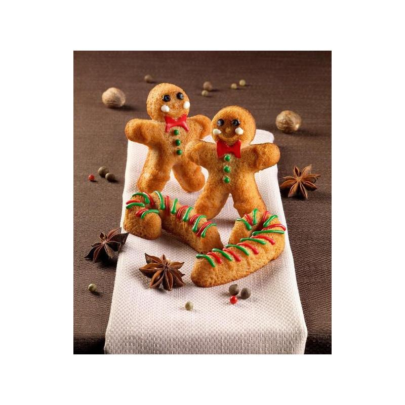 Molde silicona bizcochitos, piruletas de Gingerbread SLK